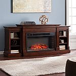 Orian Widescreen Electric Fireplace with Bookcases, Espresso $599