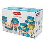 40-pc Rubbermaid Easy Find Lids Assorted Storage Container Set $10 + pickup