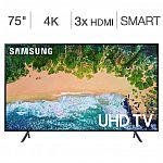"Samsung 75"" Class 4K UHD LED LCD TV $1088 (Costco Visa Card Req'd)"