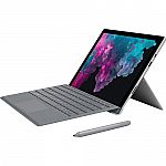 """Microsoft LJK-00001 Surface Pro 6 12.3"""" Intel i5-8250U Tablet with Signature Type Cover $799"""