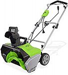 Greenworks 20-Inch 13 Amp Corded Snow Thrower $100 (50% Off)