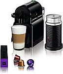 Nespresso Inissia Original Espresso Machine with Aeroccino Milk Frother Bundle $100 (Org $200)