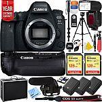 Canon EOS 6D Mark II Full-Frame DSLR Camera&Pro Memory Triple Battery Recording Bundle $1299