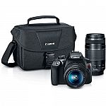 Canon EOS Rebel T6 DSLR Camera with 18-55mm and 75-300mm Lenses Kit $399 + $120 Kohl's cash