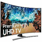 Samsung 65 NU8500 Curved Smart 4K UHD TV (2018 Model) $489