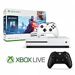 Xbox One S 1TB Battlefield console + Extra wireless controller + 6 months Xbox Live $230
