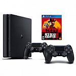 Sony PlayStation Slim 1TB Bundle with Red Dead Redemption 2 and Second Controller $298