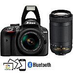 Nikon D3400 24.2MP DSLR Camera w/ 18-55mm VR Lens Kit (Refurb) $380