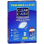 Clear Care Triple Action Cleaning and Disinfecting Contact Lens Solution (2x12 fl oz) $8.99 (Reg $19.99), or 5-packs for $46.97 w/ Free Shipping