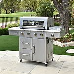 3 Embers 4-Burner Gas Grill with Radiant Embers Cooking System $479
