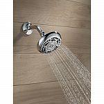 "Delta 7-Spray 4-7/8"" Fixed Shower Head in Chrome $11.88"