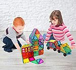 Magnet Build Deluxe 100 Piece 3D Magnetic Tile Building Set $37 (50% Off)