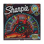 30-Ct Sharpie Special Collectors Edition Permanent Markers and Dragon Coloring Pages (Fine & Ultra Fine Point) $10