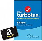 free $10 Amazon Gift Card with TurboTax 2018 (from 39.99)