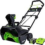 Greenworks PRO 80V Cordless Snow Thrower w/2AH Battery and Charger $263.50 (50% Off)