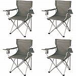 Ozark Trail Classic Folding Camp Chairs, Set of 4 $19