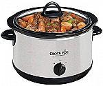 Crock-Pot 4-Quart Smudge Proof Stainless Steel Round Slow Cooker $10 (reg. $20)