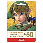 $50 Nintendo eShop Digital Card for $45
