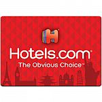 $100 Hotels.com Gift Card $90 & More