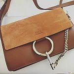 Chloe Faye Leather & Suede Wallet On Strap $600 & More