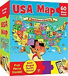 60 Piece MasterPieces USA Map Puzzle $4 (Add-on)