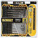 DEWALT DWA1240 Pilot Point Industrial Cobalt Drill Bit Set (14 Piece) $15