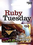 $50 Ruby Tuesday Gift Card $40