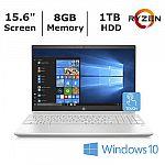 HP Pavilion 15 Touch Laptop (Ryzen 3 2200U 8GB 1TB) $400