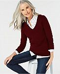 Charter Club Pure Cashmere Sweaters $39.99 (Org $139) + Free Shipping