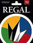 $50 Regal Entertainment Gift Card $42.50