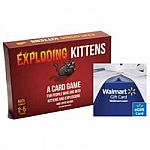 Exploding Kittens Game + $10 Walmart eGift Card for $20