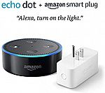 Amazon Smart Plug, works with Alexa $20, Amazon Smart Plug + Echo Dot (2nd Gen) $35