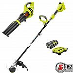 Up to 35% off Select Outdoor Power Equipment and Storage: Ryobi 40-Volt Lithium-Ion Cordless Brushless String Trimmer/Jet Fan Blower Combo Kit $199 & more