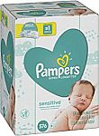 576-Count (9 Refill Packs) Pampers Sensitive Baby Wipes $12.86 or Less