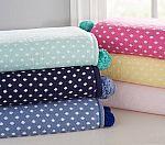 Dot Knit Sherpa Baby Blanket $19 + Free Shipping