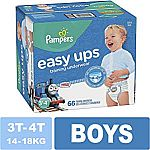 (Back) 66-Ct Boys Pampers PullUps (size 3T/4T) $7.29 (Add-on item)