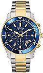 Bulova Men's 43mm Marine Star Two-Tone Chronograph Bracelet Watch $175, Michael Kors Hybrid Smart Watch $99 & More