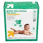 216-Count Up & Up Baby Wipes (Peaches & Honey or Green Tea Melon) $1.49