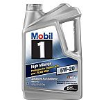 5-Quart Mobil 1 High Mileage Full Synthetic Motor Oil (10W-30 or 5W-20) $19.97