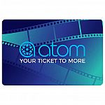 4-Pack $25 Atom Tickets eGift Cards (Email Delivery) $70 (Costco Members Only)