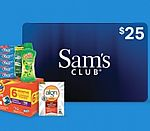 Sam's Club Members - Get $25 gift Card when purchasing $100 worth of participating items
