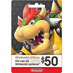 $50 Nintendo eShop Gift Card $40 (with Frys email code)