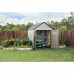 Rubbermaid 1887155 7' x 7' Outdoor Resin Storage Shed $599.99