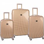 Anne Klein Luggage Manchester 3 Piece Hardside Set Luggage Set $120