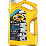 5-Qt Pennzoil Ultra Platinum Full Synthetic Motor Oil from $12.50 (After Rebate)