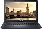 "ASUS L402WA-EH21 Thin and Light 14"" HD Laptop (AMD E2-6110 Quad Core, 4GB 32GB, AMD Radeon R2 Graphics) + 1yr Office 365 Subscription $159"