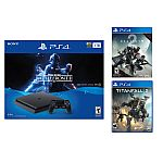 PlayStation 4 Slim 1TB Star Wars Battlefront II Console + Destiny 2+ Titanfall 2 $299.99
