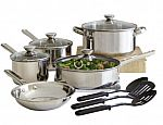 12-Piece Cooks Stainless Steel Cookware Set $13.15 and more + pickup