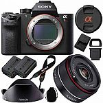 Sony a7R II Mirrorless Camera + Vario-Tessar T* 24-70mm Lens + Rokinon 35mm f/2.8 FE Lens, 4TB HD for $3200 and More