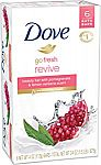 6-Count of 4-oz Dove go fresh Beauty Bar (Pomegranate & Lemon Verbena) $3.33